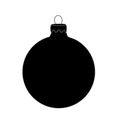 Christmas bauble icon silhouette symbol design vector