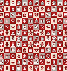 Christmas design icons set backgroundSeamless vector image