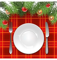 Christmas menu template vector