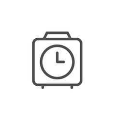 clock line icon vector image