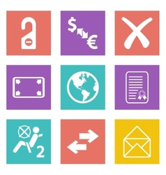 Color icons for Web Design set 32 vector