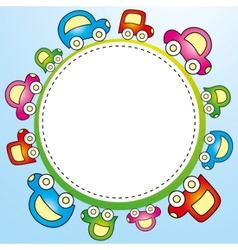 Colorful child template vector