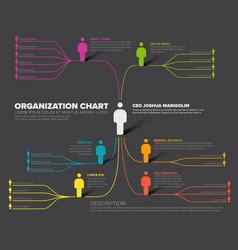 Company organization hierarchy schema template vector