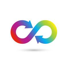 Concept of eternity logo vector