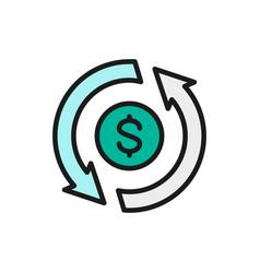 Currency exchange convert cash back vector