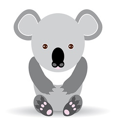 Cute cartoon koala on a white background vector image