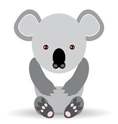 Cute cartoon koala on a white background vector image vector image
