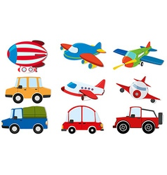 Different kind of transportations vector