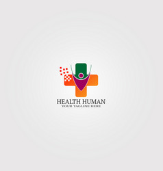 digital health icon medical logo technology vector image