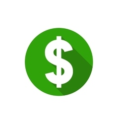 Dollar symbol flat design style circle vector