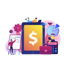 Enterprise accounting concept vector