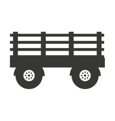 Farm wagon isolated icon design vector