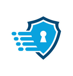 Fast guard lock shield logo icon vector