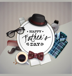 fathers day frame composition vector image