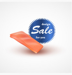 Fillet of salmon isolated on white background vector