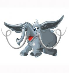 flying elephant vector image
