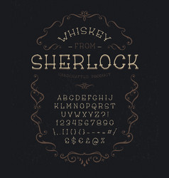 font whiskey from sherlock vector image