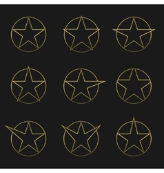 Golden Star set vector image