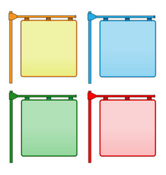Hanging corner plates for text vector