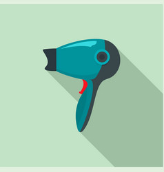 Hot hair dryer icon flat style vector