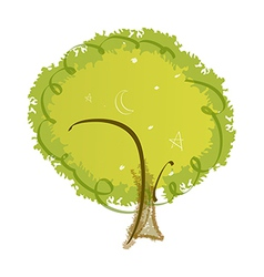 icon tree vector image