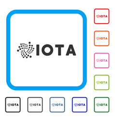 Iota ticker framed icon vector