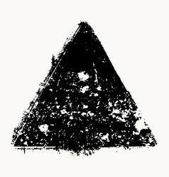 isolated grunge triangle vector image