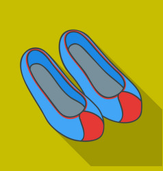 Korean traditional shoes icon in flate style vector