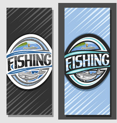 layouts for fishing vector image