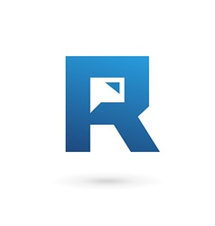 Letter R speech bubble logo icon design template vector image