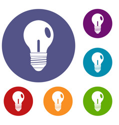 light bulb icons set vector image