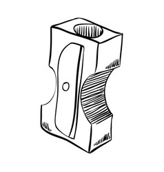line sharpener tool to use with pencil vector image