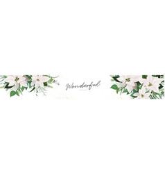 luxury festive winter season floral site banner vector image