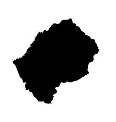 map lesotho isolated black vector image