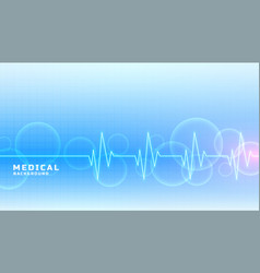 Medical and healthcare concept banner in blue vector