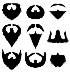 Mustaches and Beards Collection vector