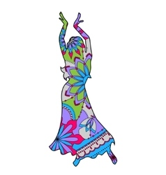 Oriental dancer colorful vector image