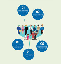 people characters in flat style infographic vector image