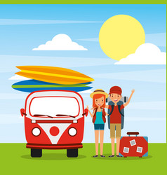 people travelers vacations vector image