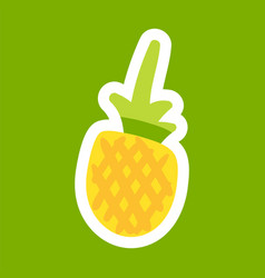 pineapple cartoon sticker vector image