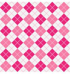 Pink girlie argyle harlequin seamless pattern vector