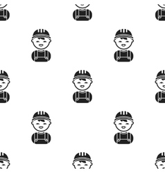Policeman black icon for web and vector