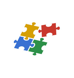 puzzle icon design template isolated vector image