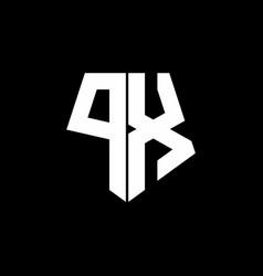 px logo monogram with pentagon shape style design vector image