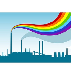 rainbow factory vector image
