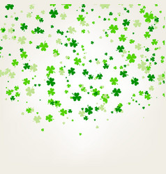 Saint patrick day background with trefoil clover vector
