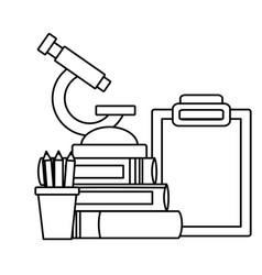 School science equipment vector