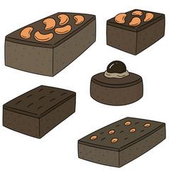 Set of brownie vector