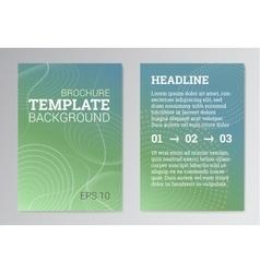 set poster brochure design templates in green vector image