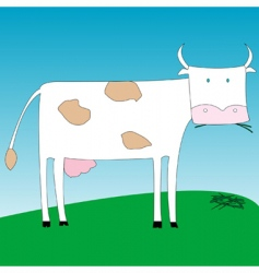simple cow vector image